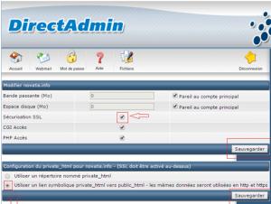 certificat SSL novahoster