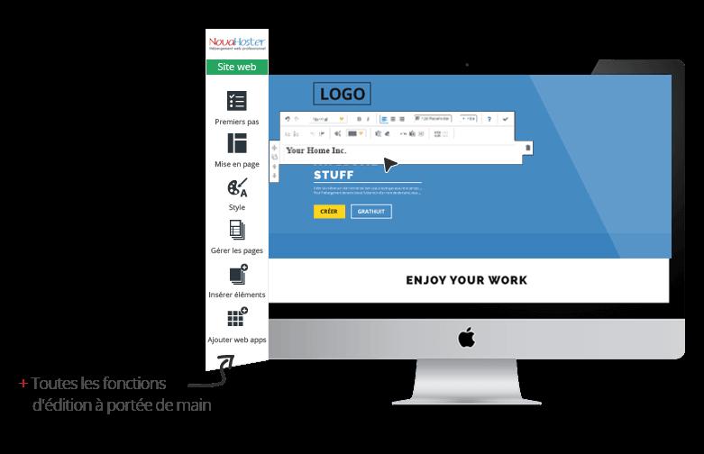 editeur-texte création site web novahoster