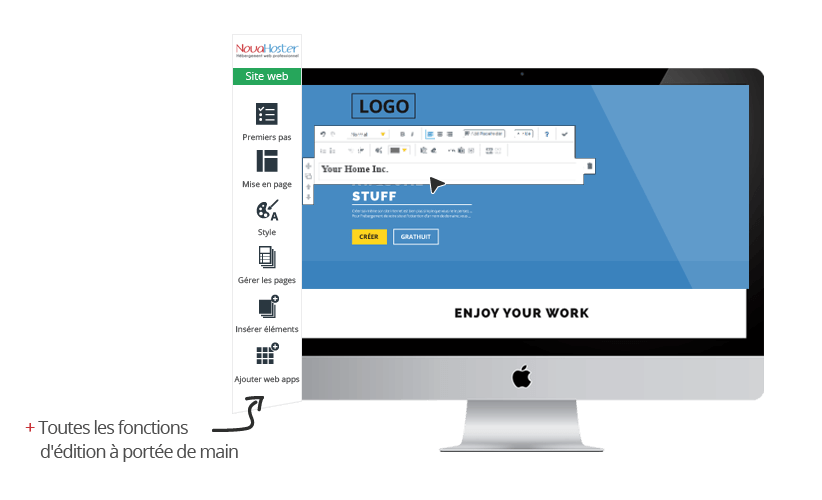 site builder novahoster
