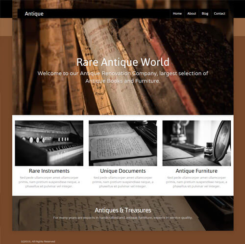 template site builder novahoster